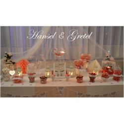 Candy bar Vintage Rosa & Blanco