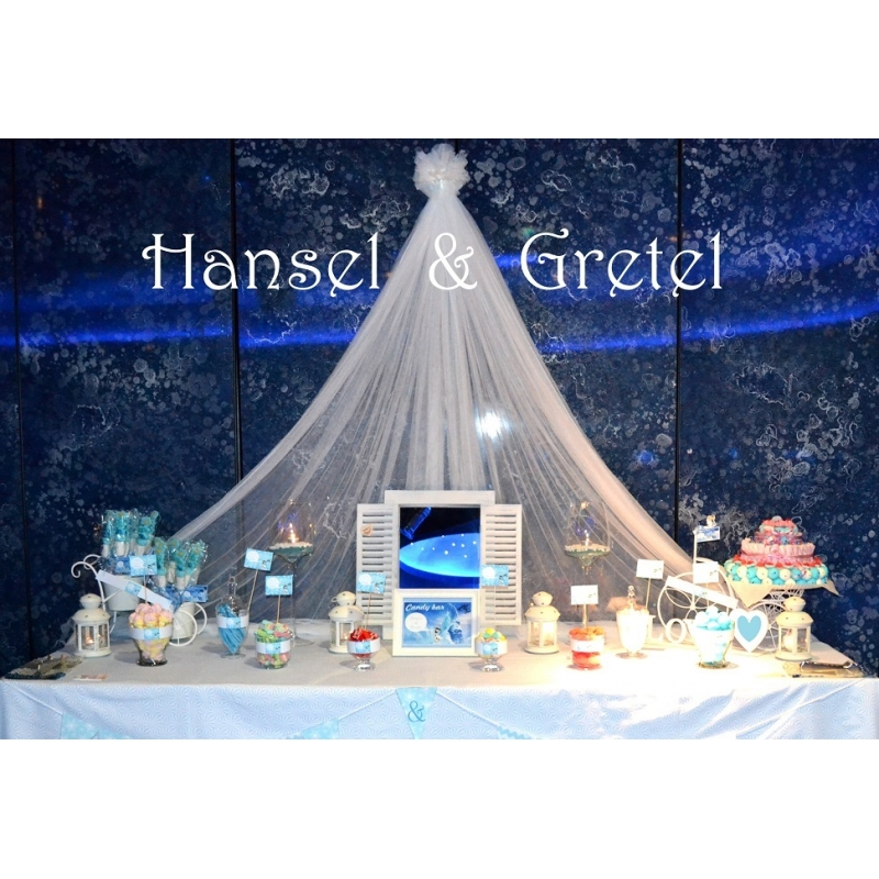 Candy bar White & Blue