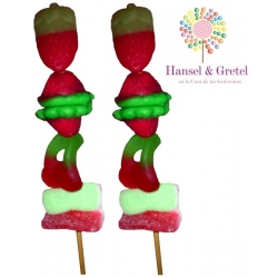 Brocheta Frutas doble